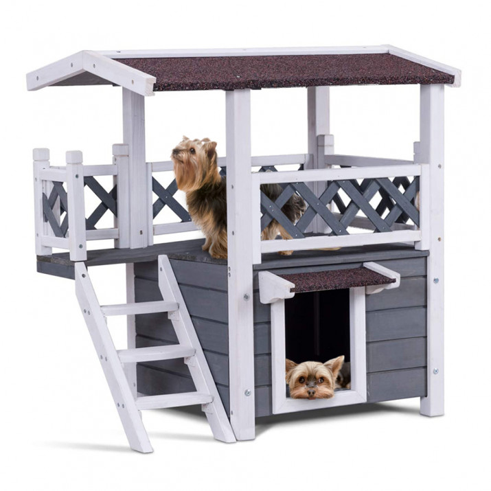 Emeletes kutyaház/cicaház - Ingyenes szállítás