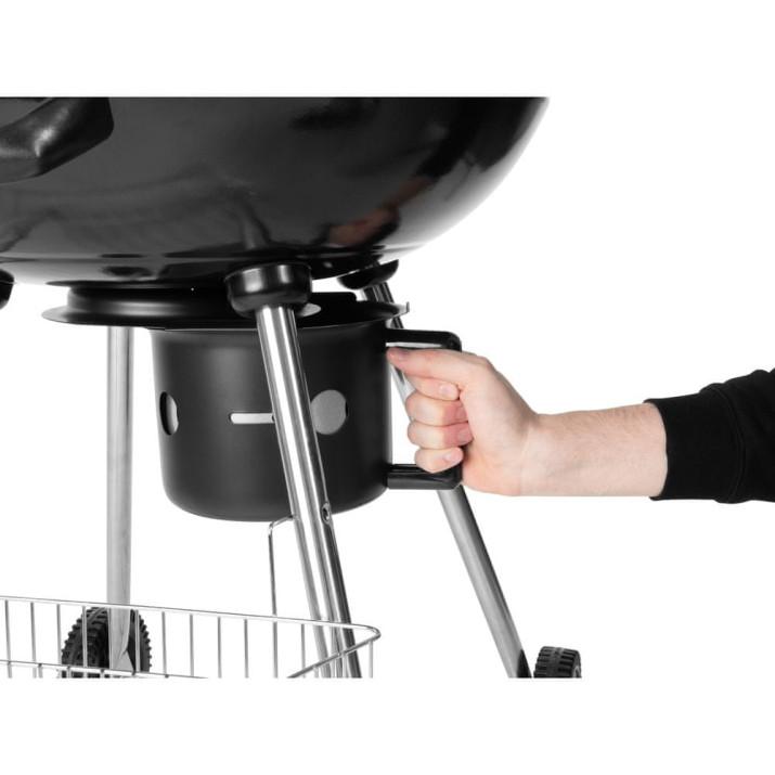 Kerti grillsütő, fogantyúval és tartópánttal