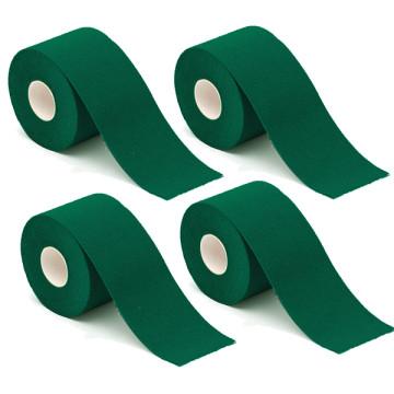 4 db kineziológiai szalag, Zöld színben
