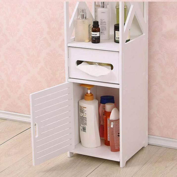 Keskeny fürdőszobai szekrény