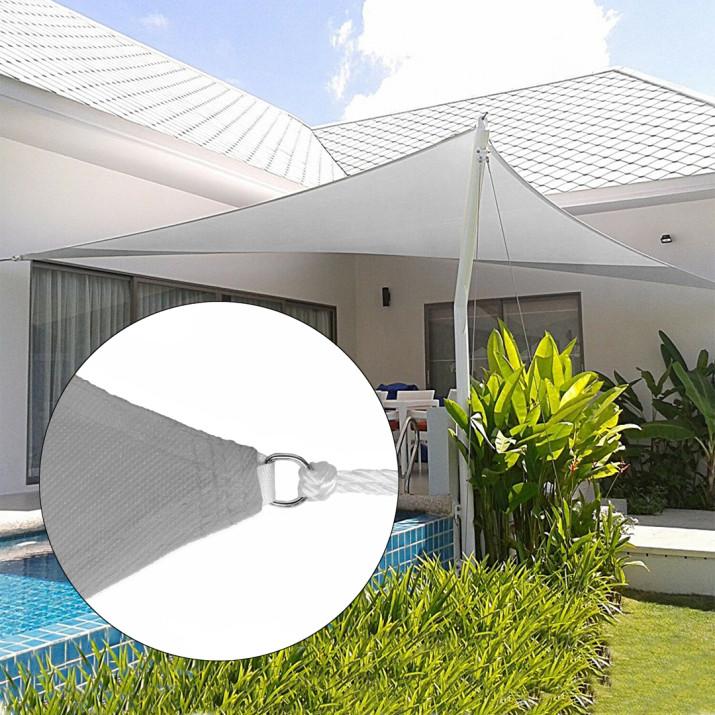 Háromszög alakú napvitorla, 3,6 méter, szürke