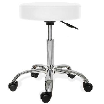 Gurulós szék állítható magassággal, Fehér