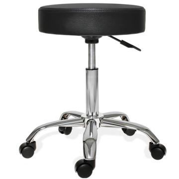 Gurulós szék állítható magassággal, Fekete