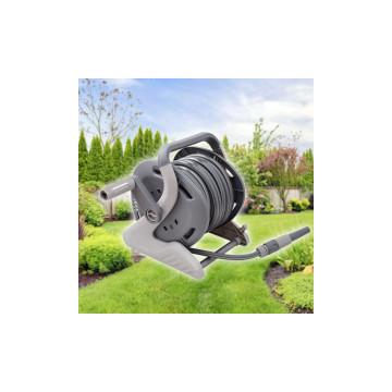 Feltekerhető kerti locsolócső tömlőtartó dobbal / 15 méteres slag