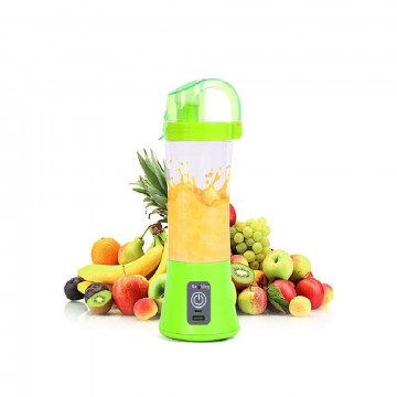 Juice hordozható turmixgép / USB-s smoothie készítő, 380 ml - zöld