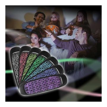 LED Air Mouse / Vezeték nélküli billentyűzet és giroszkópos lebegő egér