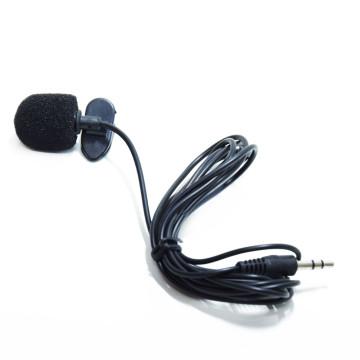 Lavalier csiptetős mikrofon telefonhoz, AUX kábellel