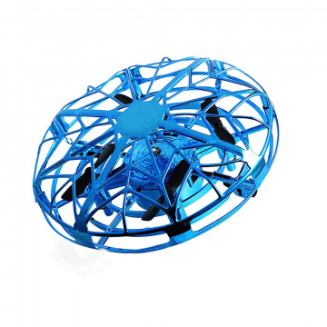 Aircraft mini drón, kéztartással irányítható, kék