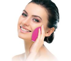 Elektromos arctisztító / arcmasszírozó kefe - rózsaszín