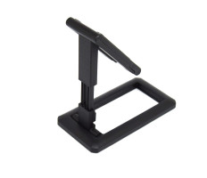 Teleszkópos asztali telefon és tablet tartó / kihajtható, fekete