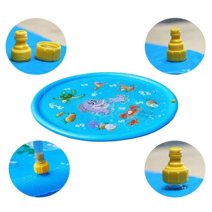 Mintás szökőkút szőnyeg gyerekeknek / Locsolószőnyeg - 170 cm, kék