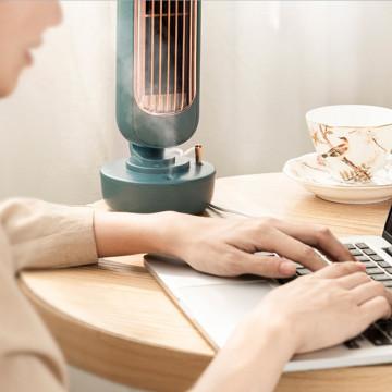 Retro asztali vízködös ventilátor torony – párásító és légkondicionáló / zöld