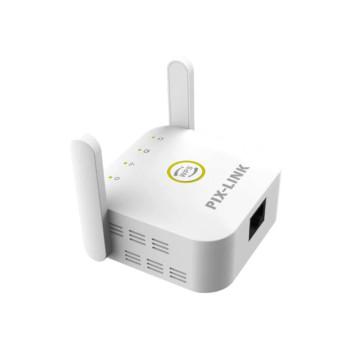 PIX-LINK vezeték nélküli WiFi jelerősítő – konnektorba csatlakoztatható / fehér (LV-WR22)