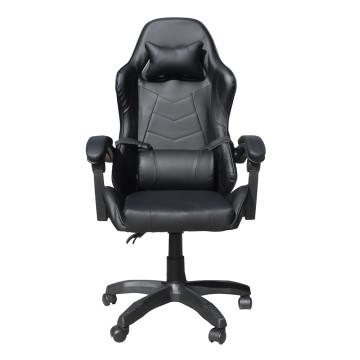 Gamer szék nyak- és derékpárnával / fekete