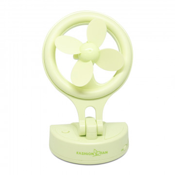 Asztali ventilátor – USB-vel töltető, 180°-ban dönthető / zöld