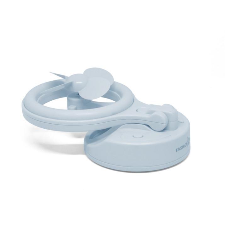 Asztali ventilátor – USB-vel töltető, 180°-ban dönthető / kék