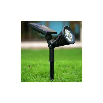 Napelemes kerti LED lámpa / 4 ledes, kerek kivitel