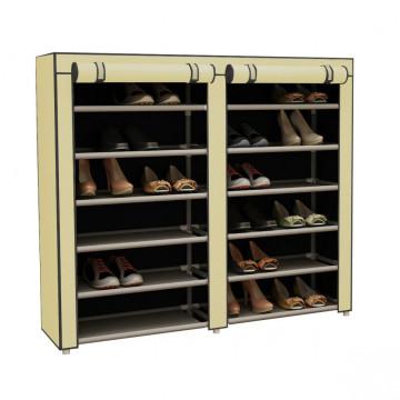 Mobil cipőtároló szekrény, bézs
