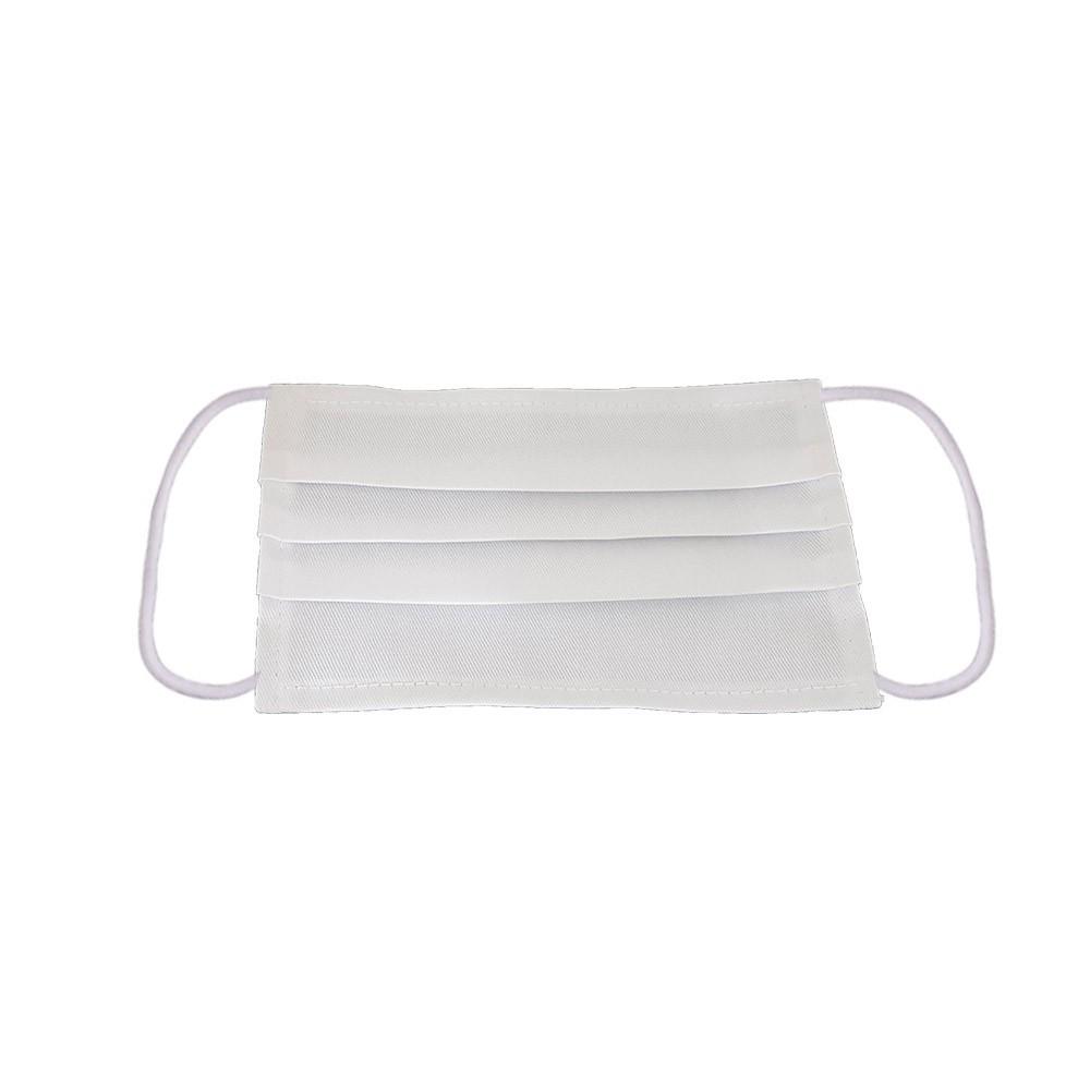 Mosható szövet maszk, felnőttek számára, 5 db / csomag, fehér