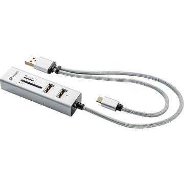 YENKEE YHC 102SR USB OTG COMBO HUB és kártyaolvasó