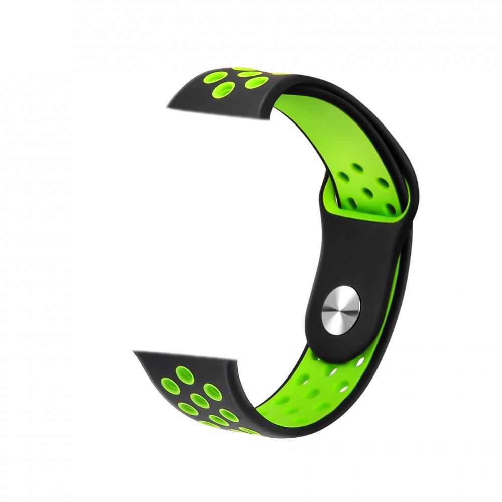 Szíj Safako SWP10 okosórához zöld-fekete színben