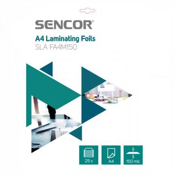 Sencor SLA FA4M150 A4-es lamináló fólia, 2x75 micron, 25 fólia / doboz