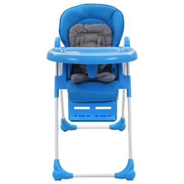 Kék és szürke babaetetőszék - utánvéttel vagy ingyenes szállítással