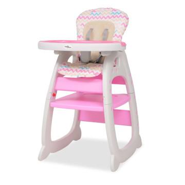 3 az 1-ben, átalakítható, rózsaszín etetőszék asztallal - utánvéttel vagy ingyenes szállítással