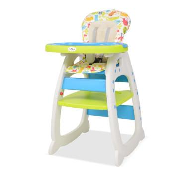 3 az 1-ben, átalakítható, kék és zöld etetőszék asztallal - utánvéttel vagy ingyenes szállítással