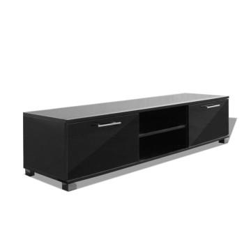 120x40,3x34,7 cm TV szekrény magasfényű fekete - utánvéttel vagy ingyenes szállítással