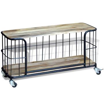 100x40x45 cm tömör mangófa TV szekrény - utánvéttel vagy ingyenes szállítással