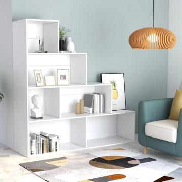 Fehér forgácslap könyvszekrény/térelválasztó 155 x 24 x 160 cm - utánvéttel vagy ingyenes szállítással