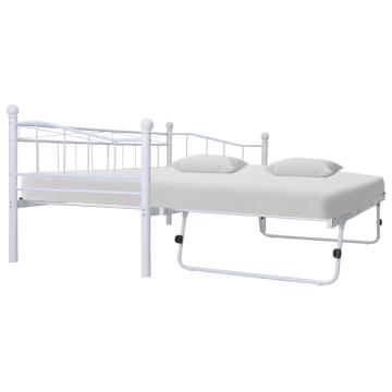 Fehér acél ágykeret 180 x 200 / 90 x 200 cm - utánvéttel vagy ingyenes szállítással