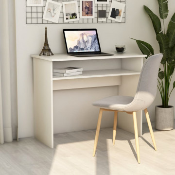 Fehér forgácslap íróasztal 90 x 50 x 74 cm - utánvéttel vagy ingyenes szállítással