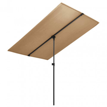 Tópszínű kültéri napernyő alumíniumrúddal 180 x 130 cm - utánvéttel vagy ingyenes szállítással