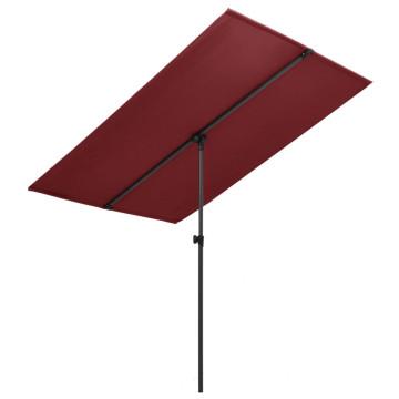 Bordó kültéri napernyő alumíniumrúddal 180 x 130 cm - utánvéttel vagy ingyenes szállítással