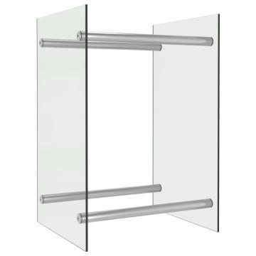 átlátszó üveg tűzifatároló 40 x 35 x 60 cm - utánvéttel vagy ingyenes szállítással