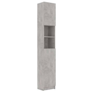 Betonszürke forgácslap fürdőszobaszekrény 32 x 25,5 x 190 cm - utánvéttel vagy ingyenes szállítással