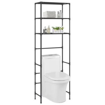 3 szintes fekete WC feletti tárolóállvány 53 x 28 x 169 cm - utánvéttel vagy ingyenes szállítással