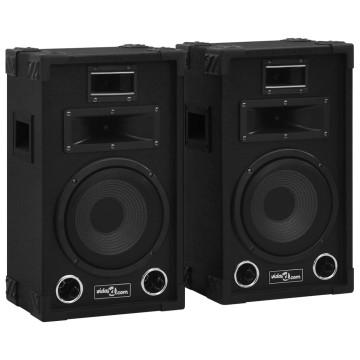 2 darab fekete professzionális passzív hifi színpadi hangszóró 800 W - utánvéttel vagy ingyenes szállítással