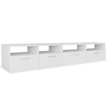 2 db fehér faforgácslap TV szekrény 95 x 35 x 36 cm - utánvéttel vagy ingyenes szállítással
