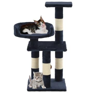 Kék macskabútor szizál kaparófákkal 65 cm - utánvéttel vagy ingyenes szállítással