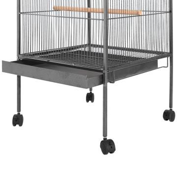 Fekete acél madárkalitka 54 x 54 x 146 cm - utánvéttel vagy ingyenes szállítással