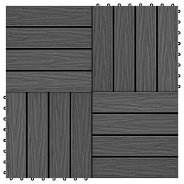 11 db (1 m2) fekete dombornyomott WPC burkolólap 30x30 cm - utánvéttel vagy ingyenes szállítással