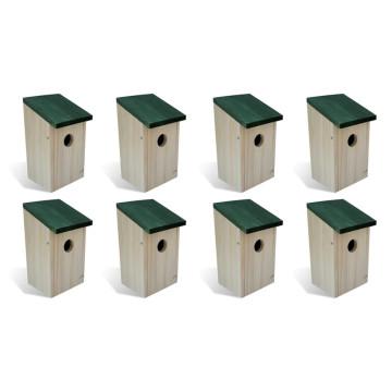 8 darab fa madárház 12 x 12 x 22 cm - utánvéttel vagy ingyenes szállítással
