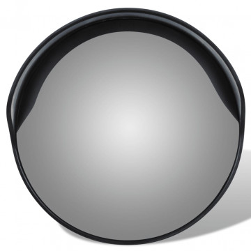 Konvex kültéri közlekedési tükör fekete polikarbonát 30 cm - utánvéttel vagy ingyenes szállítással