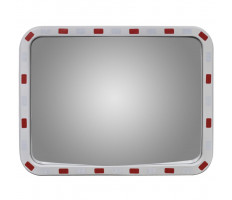 Konvex négyszögletes közlekedési tükör fényvisszaverőkkel 60 x 80 cm - utánvéttel vagy ingyenes szállítással