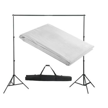 Fehér háttértartó állványrendszer 300 x 300 cm - utánvéttel vagy ingyenes szállítással