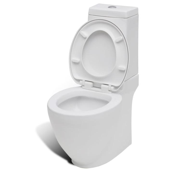 Álló kerámia WC & bidé szett fehér - utánvéttel vagy ingyenes szállítással