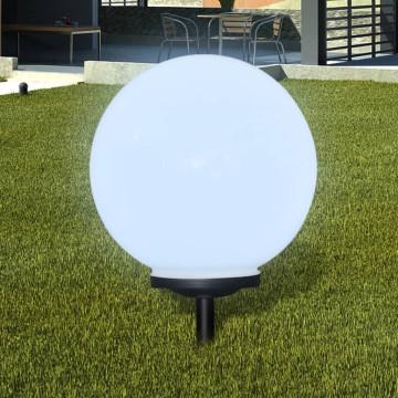 Napelemes Gömb Kültéri lámpa LED égő 40 cm 1 db Cövekkel - utánvéttel vagy ingyenes szállítással